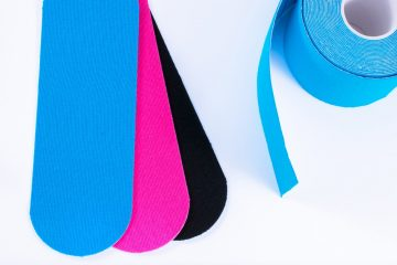 colorful kinesiology tape