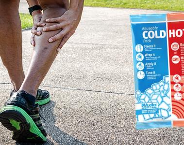 runner holding calf in pain