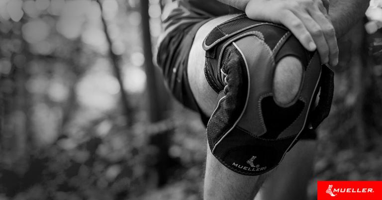 person wearing a knee brace