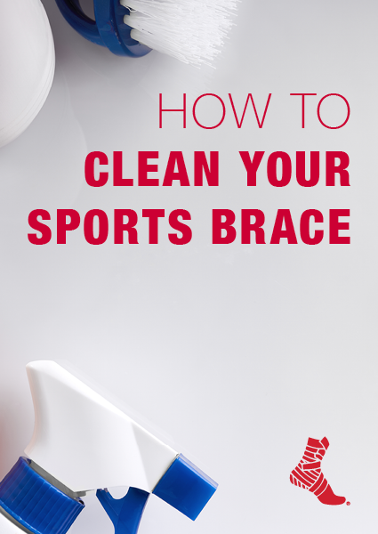 cleaning supplies for sports braces