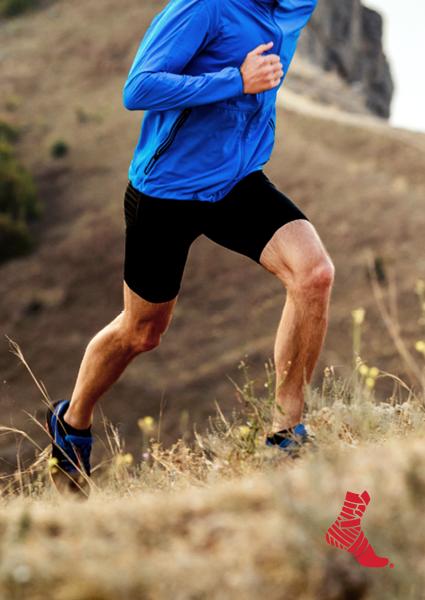 runner running uphill