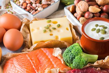 large spread of healthy foods