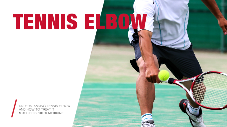 tennis player with Tennis Elbow