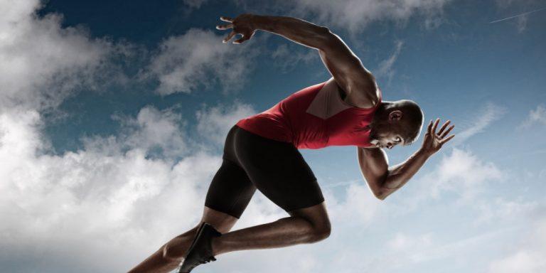 male sprinter running