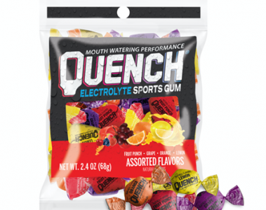 package of Quench Electrolyte Sports Gum assorted flavors